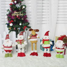 Christmas Ornaments Christmas Telescopic Old Man Dolls Christmas Party Kids New