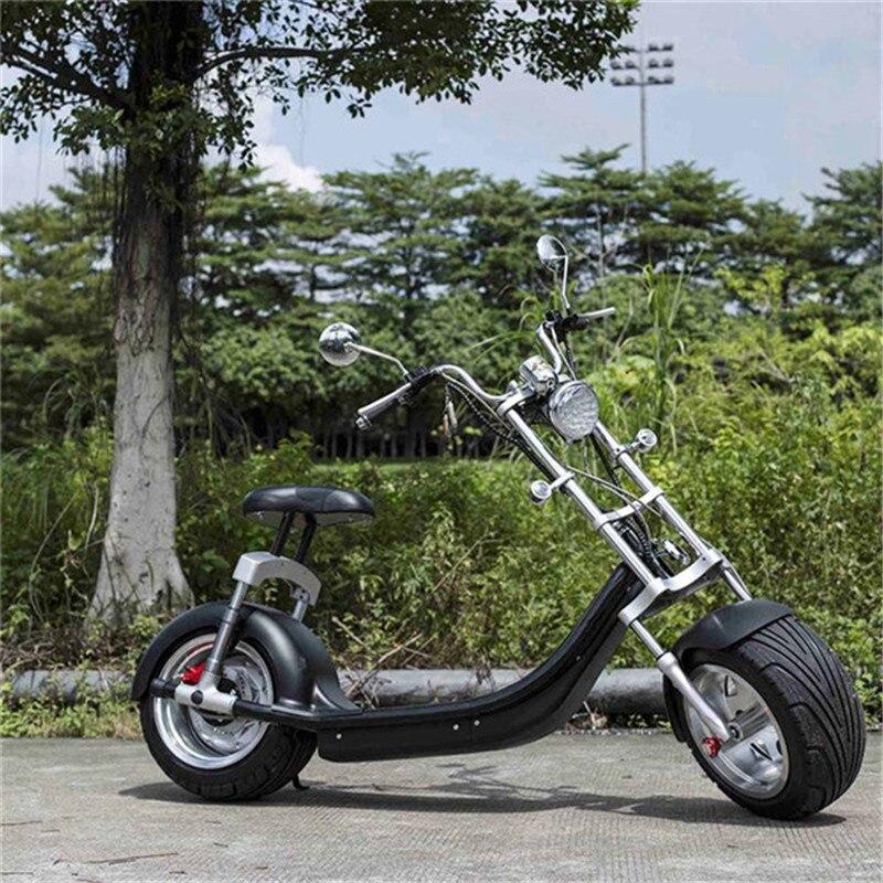 Elektrický skútr Citycoco Two Wheels Elektrický skútr Big Wheels 60V 1000W Harley Elektrický skútr se sedadlem (3)