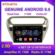 OTOJETA Android 9,0 плеер умный Автомобильный мультимедийный радио для 2013- peugeot 301 CITROEN gps навигация по Bluetooth магнитофон