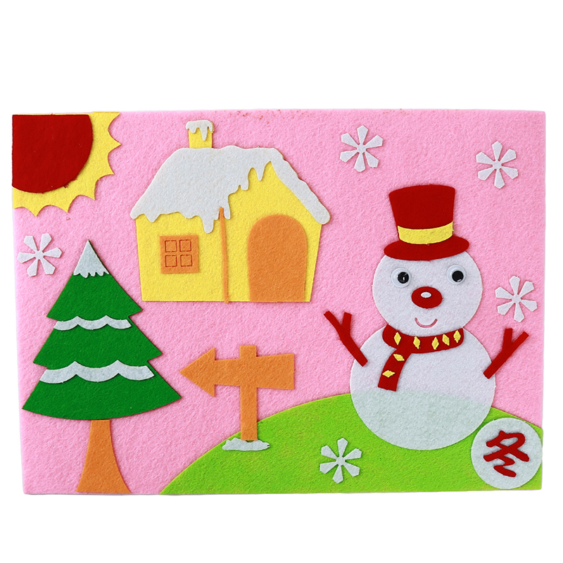 Non-Woven Three-Dimensional Stickers Children'S Educational Toys DIY Non-Woven Fabrics Hand-Made Materials