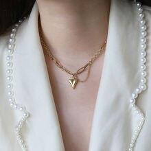 Amaiyllis 18k золотое сердечко любовь ожерелье кулоны кисточка