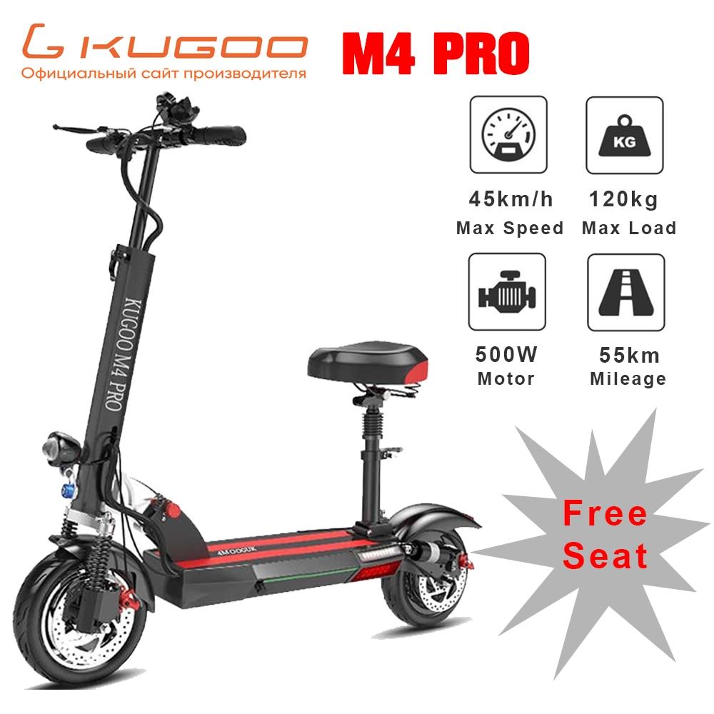 [Estoque rússia] kugoo m4 pro scooter adulto elétrico 48 v 500 w 50 km 45 km/h e scooter skate elétrico 10 polegada freio a disco