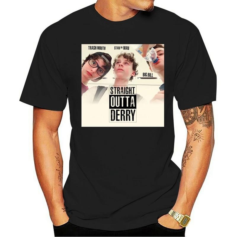 Camiseta 2021 algodão masculino t camisa reta fora de derry