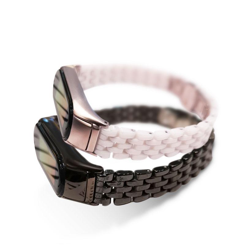 For Xiaomi Mi Band 5 NFC Smart Bracelet Replacement Wristband Fashion Luxury Metal Bracelet Strap Watchband For Mi Band 3/4