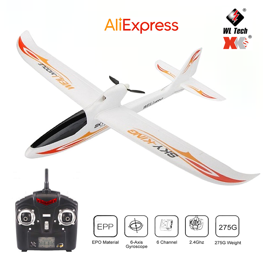 WLtoys F959 RC Airplane 3CH 2.4G 200 Meters Flying Distance Fixed Wing Remote Control Aircraft Toy Gift for Boyfriend