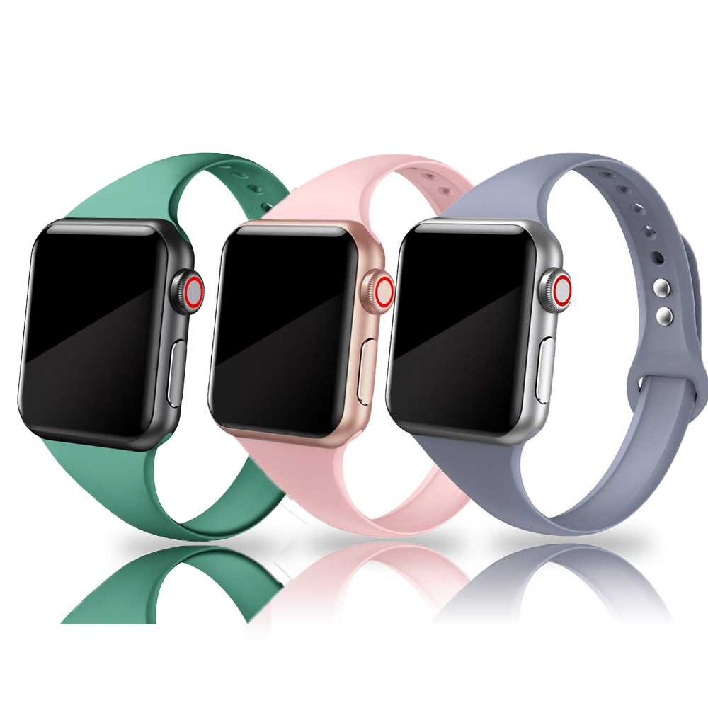 Strap For Apple Watch Band 44mm 40mm Iwatch 5 4 3 Band 42mm 38mm Correa Narrow Thin Slim Sport Soft Silicone Belt Bracelet Band