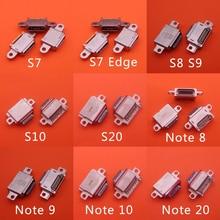20Pcs tipo c presa connettore USB presa porta di ricarica dati per Samsung Galaxy S7 Edge S8 S9 S10 S10e S20 S21 nota 8 9 10 20 Plus