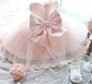 2020 Платья с цветочным рисунком для маленьких девочек, платья на крестины для новорожденных, одежда для крещения, белое платье-пачка принцессы с бантом на день рождения