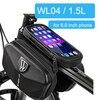 Newboler bolsa de ciclismo à prova de chuva, estojo para celular, touch screen, mtb, acessórios de bicicleta, para cano superior, refletor 10