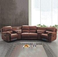 living room Sofa set диван sofa bed мебель кровать muebles de sala recliner genuine leather sofa cama puff asiento sala 4 seater