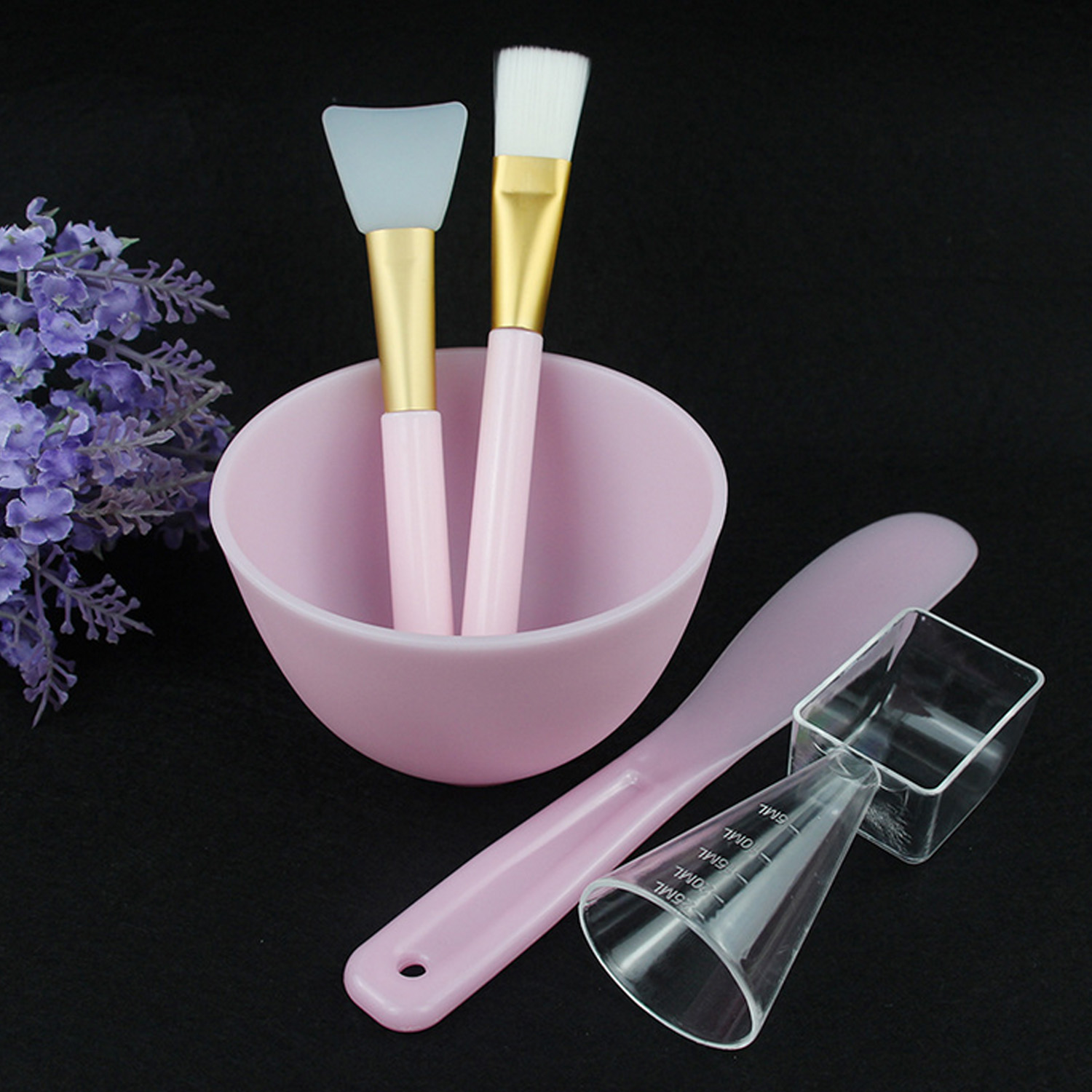 5pcs DIY Face Mask Mixing Tools Set Home Facial Eye Body Mask Mud Mixing Lady Girls Home Mask Mixing Bowl Brushes Applicator Set
