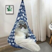 Tent Cat Hammock House Hanging-Beds Pet-Cat Breathable Linen Sponge-Cover Cone-Shape