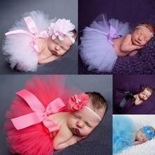 Costumes Skirt-Set Photography-Props Girls Newborn Baby Kids 7-Colors Headband Dancewear