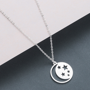 Todorova Stainless Steel Curved Crescent Moon Pendant Necklace OX Double Horn Necklaces for Women Delicate kolye Jewelry 1