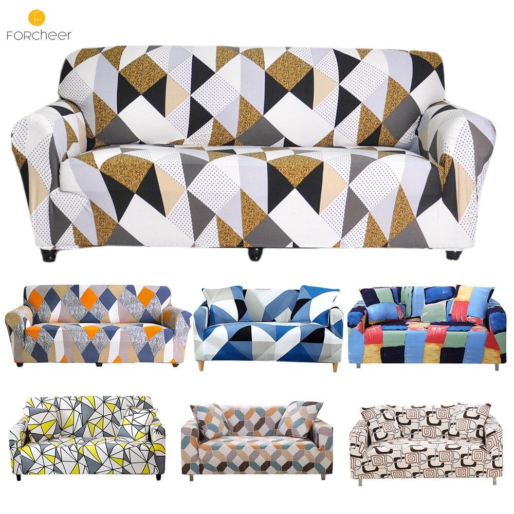 Canapé extensible couvre meubles protecteur Polyester causeuse canapé couverture l 1/2/3/4 places bras chaise couverture pour salon