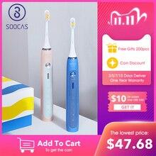 SOOCAS X5 Elektrische Zahnbürste Wiederaufladbare Smart Sonic Zahnbürste Automatische Ultra sonic Zahnbürste Zähne Reinigung 12 modi IPX7