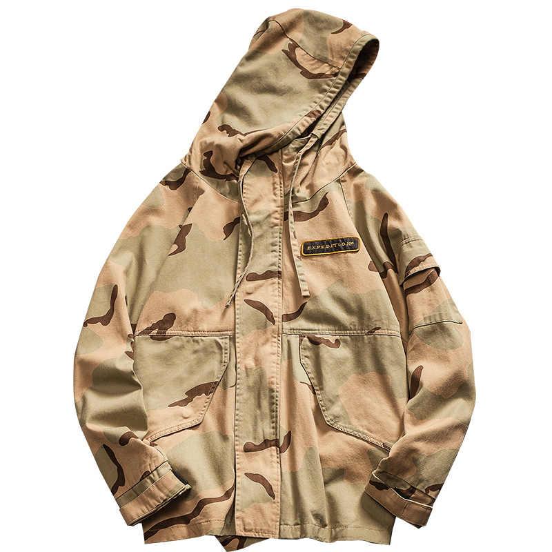 Mężczyźni wojskowa kurtka do kamuflażu armia odzież taktyczna Multicam mężczyzna Erkek Ceket wiatrówki moda Chaquet Safari kurtka z kapturem
