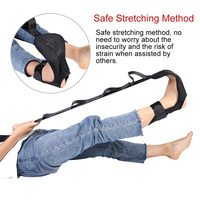 Yoga Stretching Strap Ligament Extension Strap Leg Pull Band Women Men Foot Stretching Exercising Adjustable Strap
