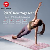 PIDO YOGA 183X68cm 7mm Suede TPE Yoga Mat Fitness Gym Sports Mats Pilates Exercise Pads With Position Line Non-slip Yoga mats
