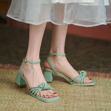 Block Heels Beige Heeled Sandals Comfort Shoes for Women Espadrilles Platform Large Size Med 2021 Summer Chunky Black High Girls