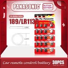 30 pièces/lot PANASONIC Original LR1130 189 1.5V piles alcalines AG10 LR54 SR1130W pile bouton 0% Hg pour télécommande