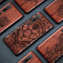 Carveit 3D Carved Natural Real Wood Case For Xiaomi Mi 10 Pro Retro Soft Edge Cover Thin Light Phones Accessorie Protective Hull