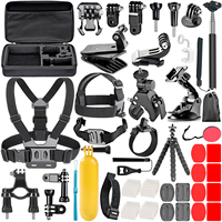 Nuevo accesorio para cámara de acción Kit para sjcam SJ4000 5000 6000 DBPOWER AKASO APEMAN WiMiUS Rollei QUMOX Lightdow Campark