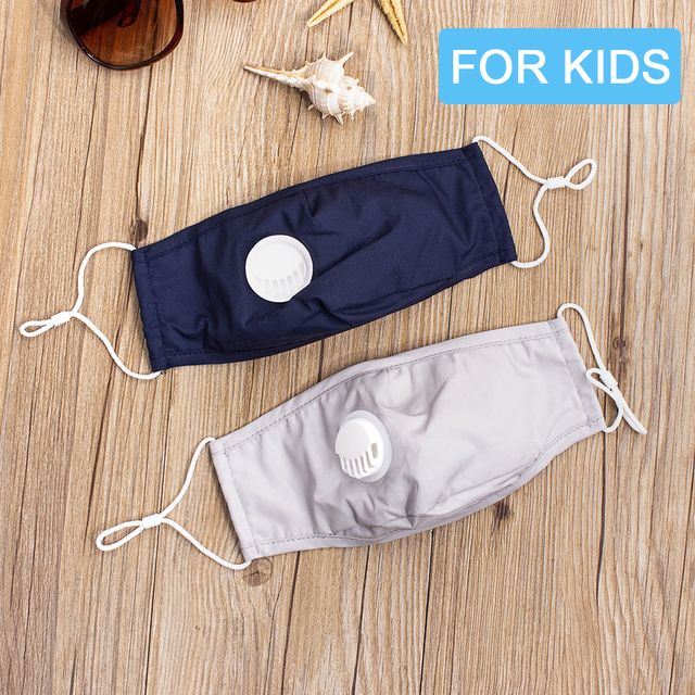 Kids Reusable Windproof Activated Carbon Filter Mouth-muffle Bacteria Proof Flu Masks Child Cotton PM2.5 Mouth Mask Anti Dust