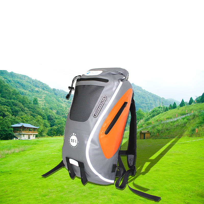 Reflective 25L <font><b>Water</b></font> <font><b>Proof</b></font> <font><b>Bag</b></font> Outdoor Travel Foldable Trekking Pack Dry-wet Separation Beach Swimming River PVC Backpack image