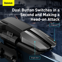 Baseus Gamepad Joystick For PUBG Mobile Controller Auto High Frequency Click Joypad Trigger Button, L1R1 Shooter for Android iOS