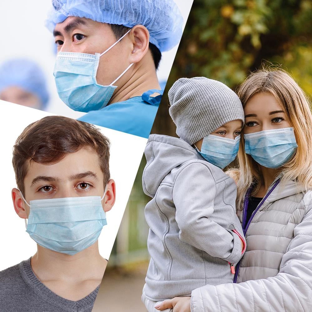 10/20pcs Disposable Face Mask Masks Respirator Mask Cover Non-woven Mask For 2019-nCov