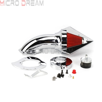 Motorcycle Chrome Spike Air Filter Washable Air Cleaner Intake Kit For Honda VTX 1300 VTX1300 1995-2015 2016 2017 2018 2019 image