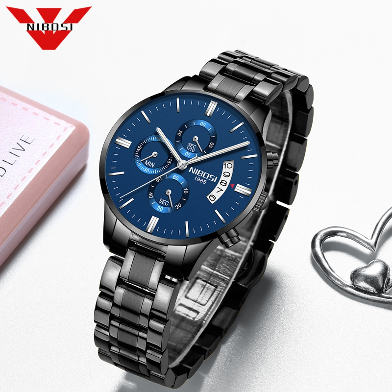 NIBOSI 2020 New Women Watches Fashion Brand Quartz Wristwatch Ladies Luxury Chronograph Female Watch Women Relogio Feminino