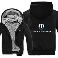 Mondraker Bikes Hoodies Mens Zipper Coat Fleece Thicken Mondraker Sweatshirt Pullover
