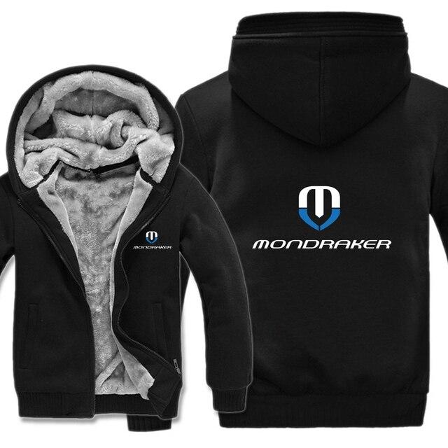 Mondraker จักรยาน Hoodies Mens Zipper เสื้อขนแกะ Thicken Mondraker เสื้อกันหนาว