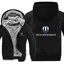 Mondraker rowery bluzy z kapturem męskie Zipper płaszcz z polaru zagęścić Mondraker bluza z kapturem