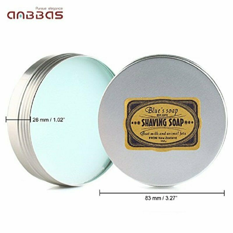 Men's Cologne Scent Goat Milk SHAVING CREAM SOAP 100g Foaming Lather Barber Salon Tool