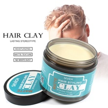 Hair Styling Clay Mud for Men Strong Hold Hairstyles Natural Fluffy Hair Wax Long Lasting Stereotype Hair Wax