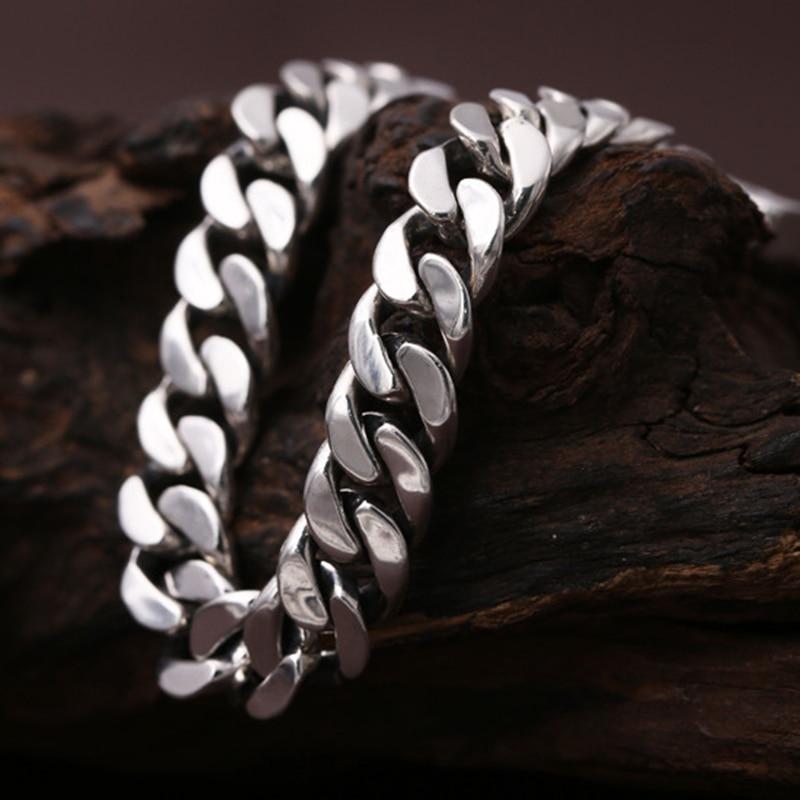 925 argent sterling mode tendance bijoux personnalité hommes et femmes Thai argent bracelet couple argent bracelet étudiant chaîne - 2