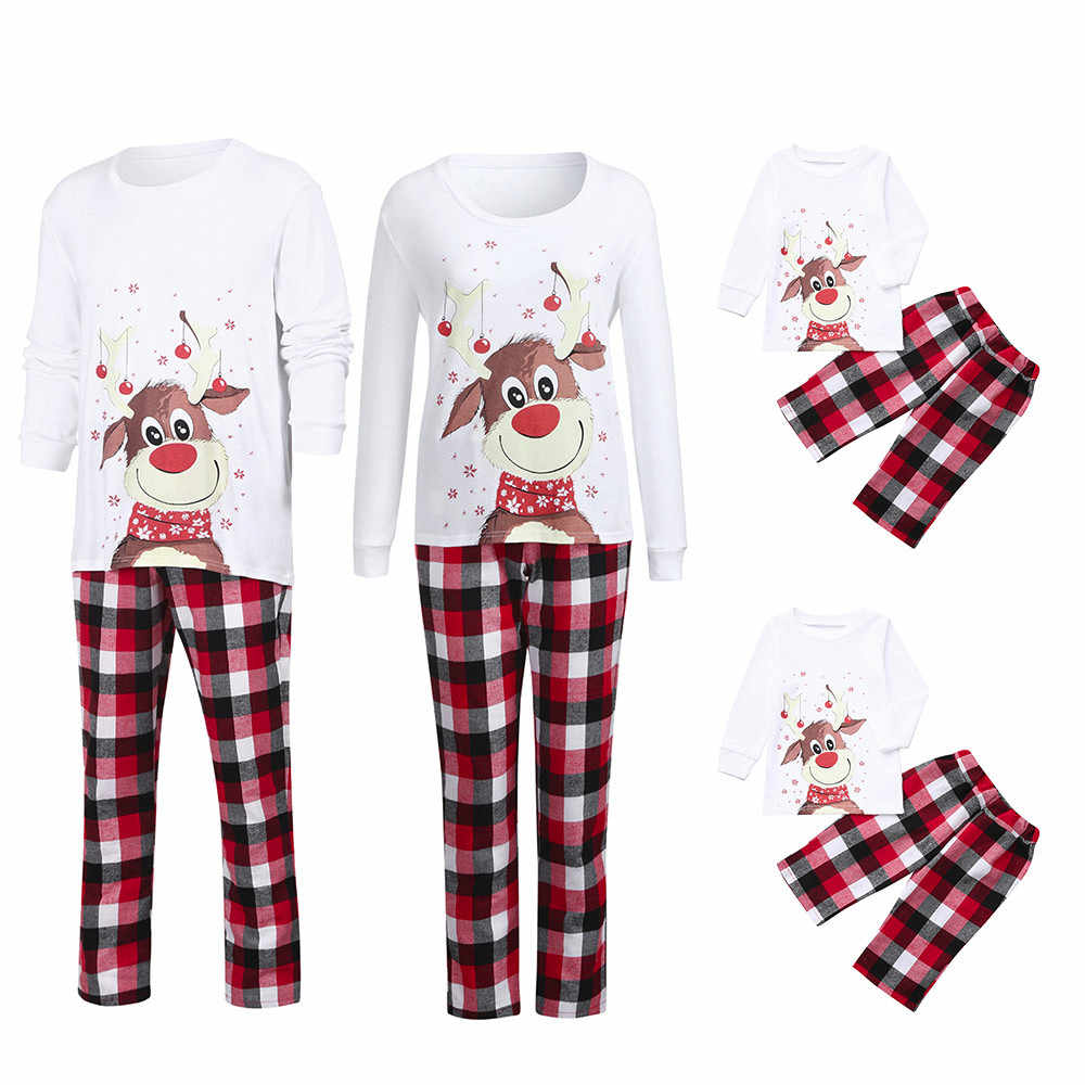 Women Pajamas Sets Mommy Plaid Blouse Pants Family Pajamas Sleepwear Matching Christmas Set Robe pyjamas Women Sleepwear pjs