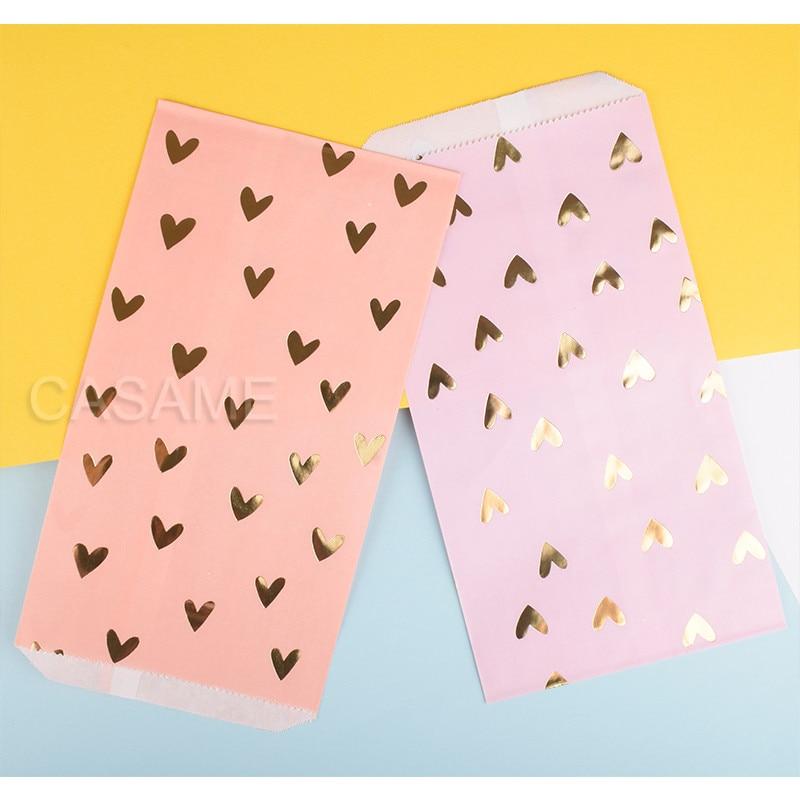 Geschenk Box Candy Box Kraft Tasche Papier gold Goodie Bags Gedruckt Behandeln Taschen Papier Geburtstag Party Hochzeit dekoration band folie