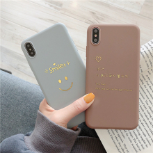 Simple golden smiley pattern protector for iPhone XS Max Xs XR mobile phone case for iPhone X 8 7 6 6S Plus soft TPU back cover стоимость