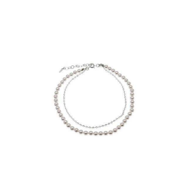 Купить leouerry 925 пробы серебряные браслеты для ног женщин простой картинки цена