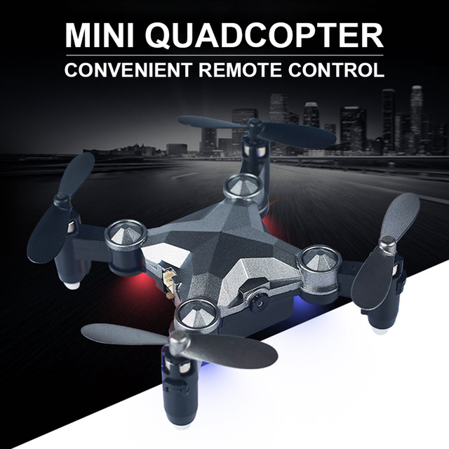 Unmanned Aerial Vehicle With LED Light Travel Watch Four-Axis Remote Control Intelligent WIFI Folding Gravity Induction Drone