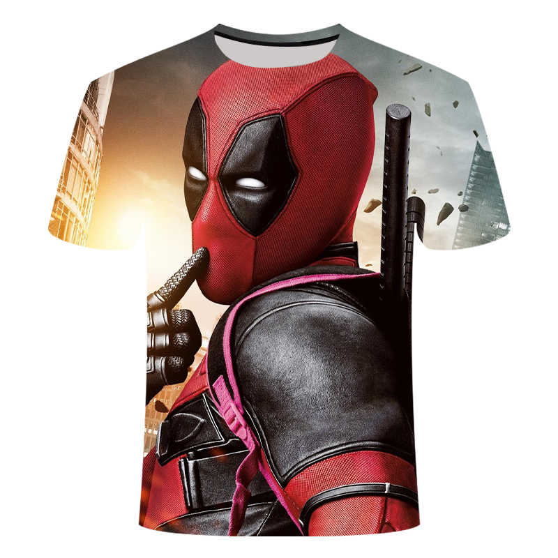 Nuovo disegno mascalzone Deadpool t shirt Avengers Endgame 3D stampa t-shirt badass manica Corta Harajuku Hip-Hop tshirt streetwear