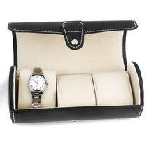 Travel PU Leather Watch Box Case Professional Holder Organizer 3 Watch Storage Jewelry Box Organizer Holder Display Best Gift