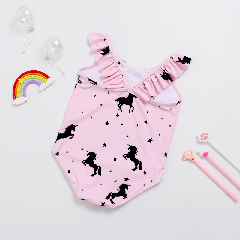 KID'S Swimwear Girls GIRL'S Wen Quan Bao Bathing Suit Kids 1-10 Years Old Baby One-piece Swimsuit For Children With Swim Cap