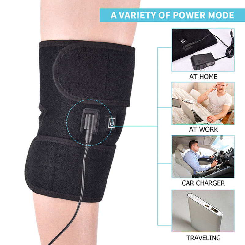 Electric Heated Knee Pad Arthritis Pain Relief Warm Therapy Legs Wrap Knee Support Brace D88
