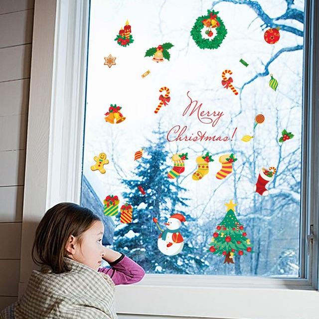 Фото рождественская мультяшная наклейка на стену для детской комнаты