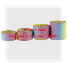 50Yards 9mm-75mm Double-sided Printing  Personalized Custom Design Printed Grosgrain Ribbon DIY Hair Bowknots Party Decoration